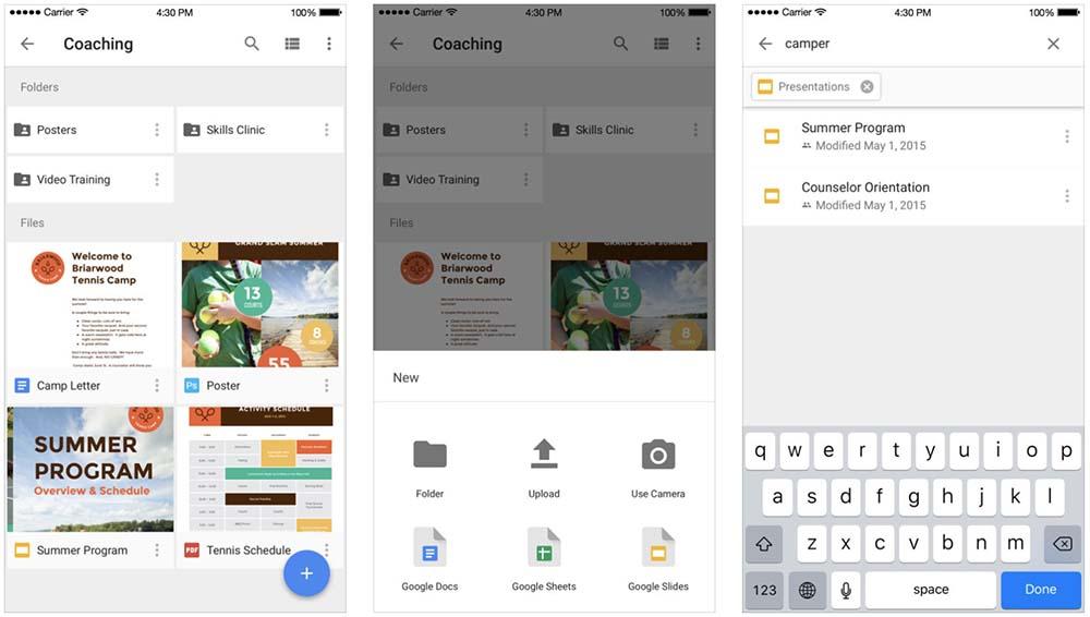 Google Drive est maintenant compatible avec l'app Fichiers d'iOS 11