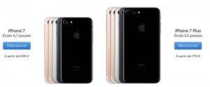 iPhone 7 / 7 Plus : baisse de prix, et une version 32Go pour le Noir de Jais !