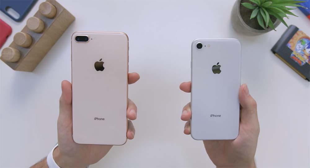 Les iPhone 8 / 8 Plus US ont droit à un dos plus épuré qu'en Europe