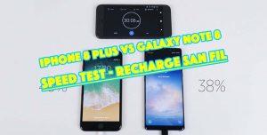 Lequel de l'iPhone 8 Plus ou du Galaxy Note8 à la meilleure recharge sans fil ? [Vidéo]