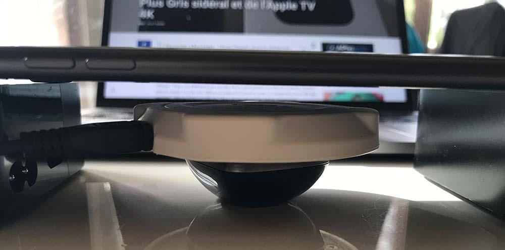 iPhone 8 Plus : la recharge sans fil fonctionne bien avec des docks tiers