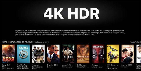 Apple ajoute une section dédiée aux films 4K — ITunes