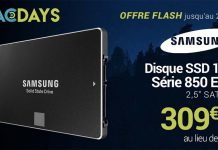 MacDays : le disque Samsung SSD 850 EVO 1 To à seulement 309,99€