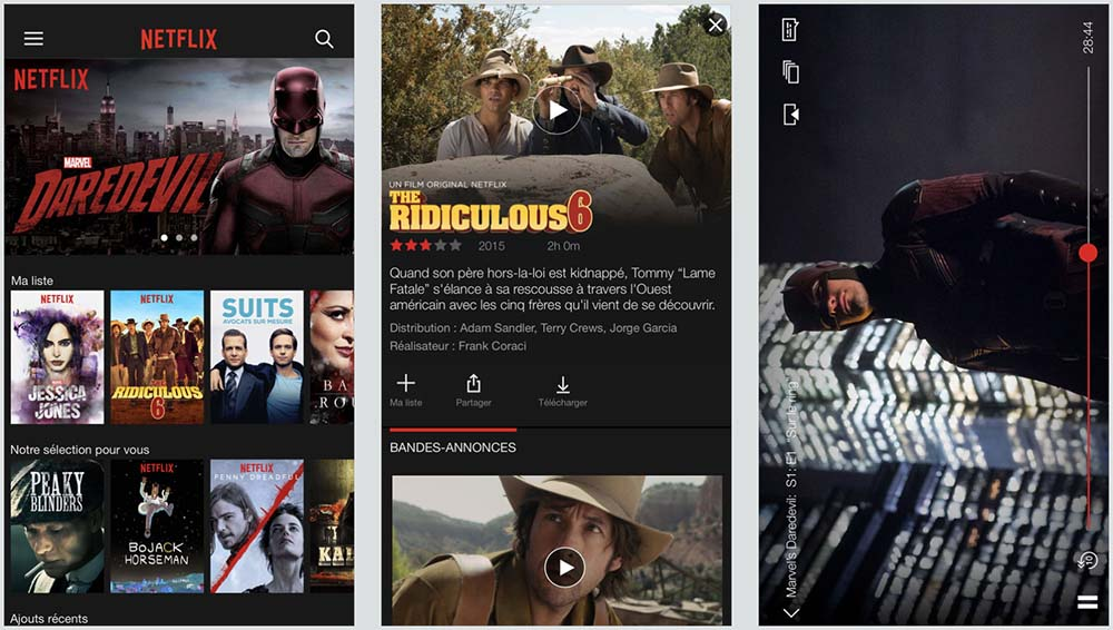 Netflix pour iOS : support du streaming en HDR et d'iOS 11
