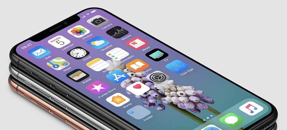 De nouveaux rendus 3D de l'iPhone X avec une façade noire