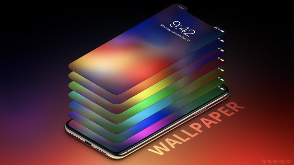 Voici plusieurs fonds d'écran inspirés de l'iPhone X