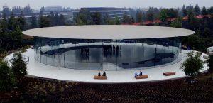 Un dernier survol de l'Apple Park et du Steve Jobs Theater avant la keynote iPhone 8 [Vidéo]