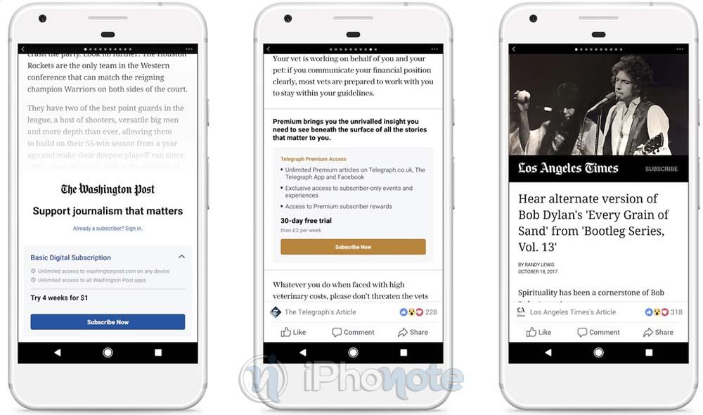 Apple bloque la nouvelle monétisation des articles de Facebook