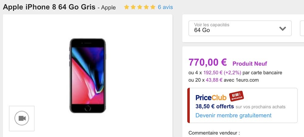 Opé PriceMinister : des iPhone 8, iPhone 7, Galaxy Note8 / S8, iPad mini pas chers !
