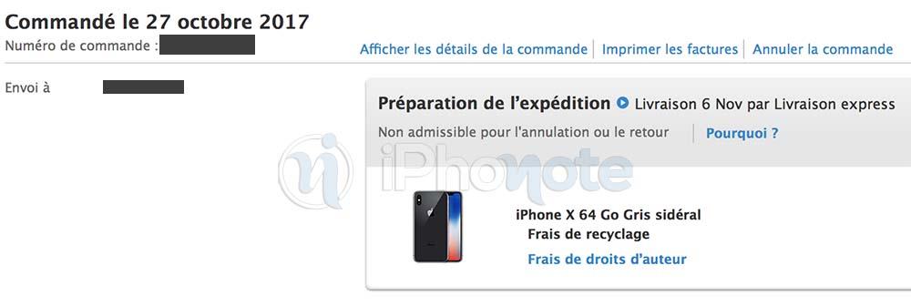 iPhone X : Apple prépare pour l'expédition les pré-commandes françaises