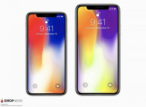 voici l 39 iphone x plus avec cran de 6 4 pouces concept. Black Bedroom Furniture Sets. Home Design Ideas