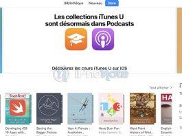 iTunes U 3.6 : Apple transfère les collections iTunesU vers l'app Podcasts