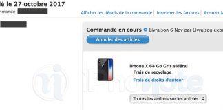 Quand recevrez-vous votre iPhone X ?