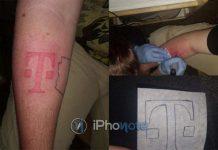 Il se fait tatouer le logo de T-Mobile sur le bras en échange d'un iPhone 8