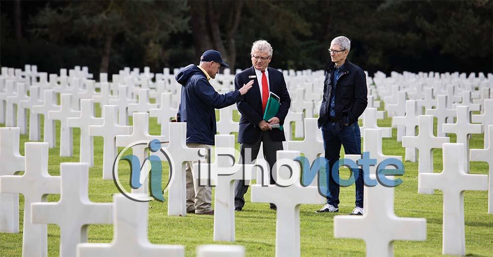 Tim Cook rend hommage aux soldats morts en juin 1944