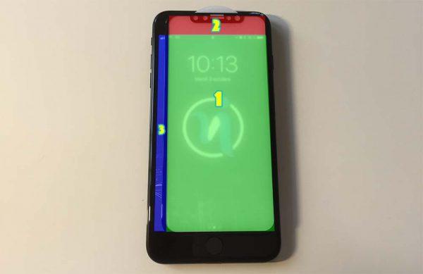 Comparons un verre trempé pour iPhone X aux écrans d'iPhone 7 Plus et iPhone 6