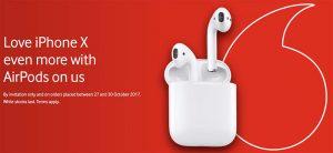 Vodafone UK offrira des AirPods en cas de pré-commande d'un iPhone X