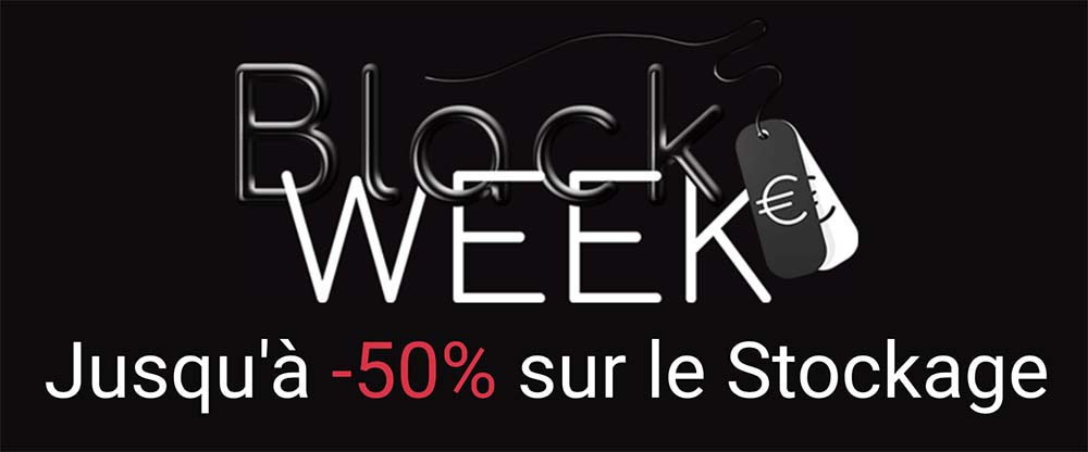 #BlackWeek Stockage : jusqu'à -50% sur le STOCKAGE chez MacWay !