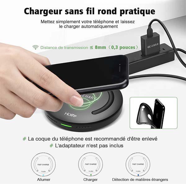 Promo : Chargeur sans Fil Holife à seulement 10,99€