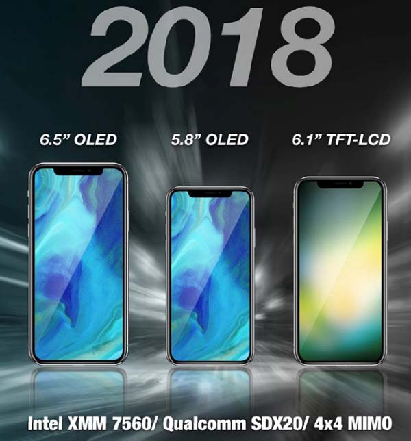iPhone 2018 : des modems Intel et Qualcomm plus véloces, plus un slot double SIM