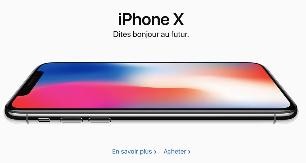L'iPhone X est maintenant en vente !