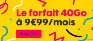 Bon plan : Sosh renouvelle son forfait de 40Go à seulement 9,99€