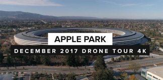 Apple Park : encore un petit survol de drone avant Noël [Vidéo 4K]