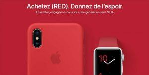 Apple met en avant ses produits (RED) pour la Journée mondiale de lutte contre le SIDA