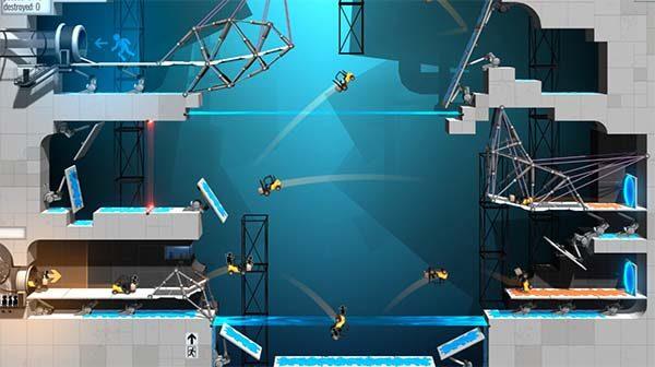 GLaDOS fait le pont — Bridge Constructor Portal