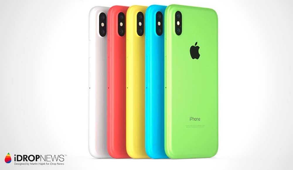 iPhone Xc : le mélange parfait entre l'iPhone 5c et l'iPhone X [Concept]
