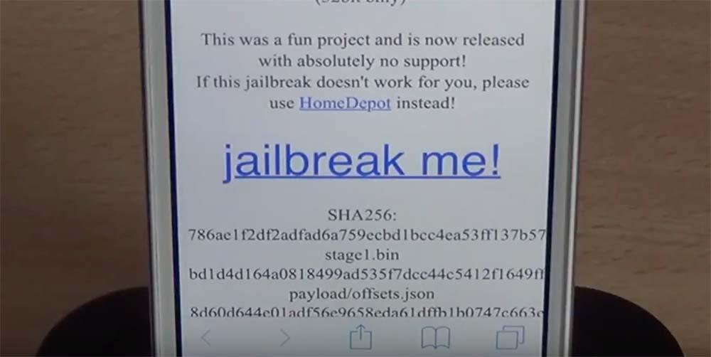 Jailbreak iOS 9.1 ></noscript> 9.3.4 disponible avec JailbreakMe 4.0 !