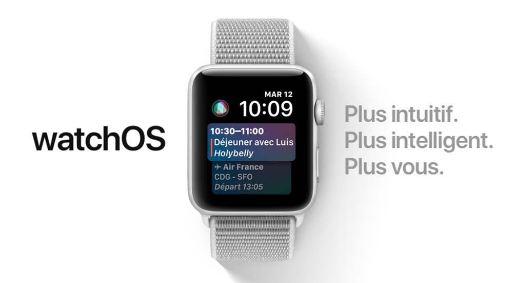 Apple sort watchOS 4.2 en version finale