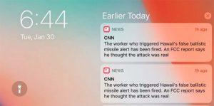 Alerte missile : CNN blâme Apple pour le bug des notifications répétées
