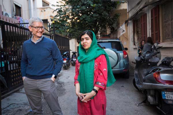 Apple annonce son soutien au Fonds Malala pour l'éducation des filles