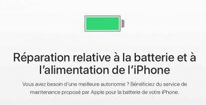 Apple permet le remplacement de batterie à 29€ une seule fois par iPhone