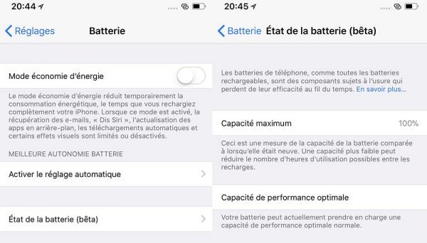 ios 11 3 la gestion avanc e de la batterie est enfin disponible. Black Bedroom Furniture Sets. Home Design Ideas