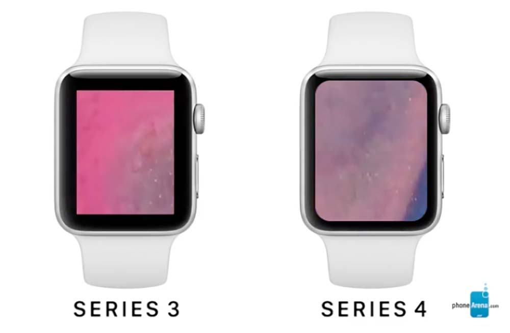 un plus grand cran pour la prochaine apple watch series 4. Black Bedroom Furniture Sets. Home Design Ideas