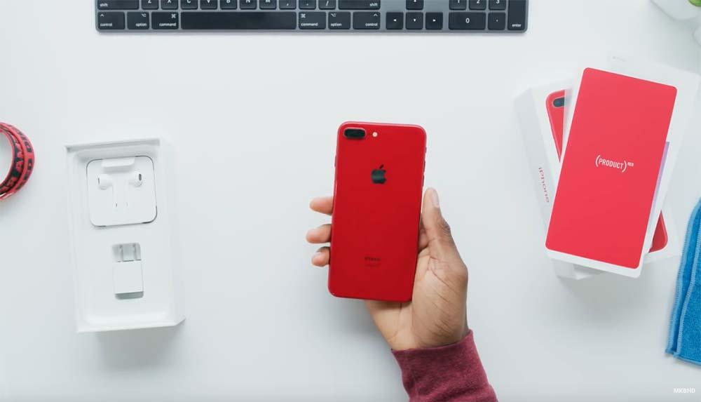 pr sentation vid o de l 39 iphone 8 plus red un rouge tr s rouge. Black Bedroom Furniture Sets. Home Design Ideas