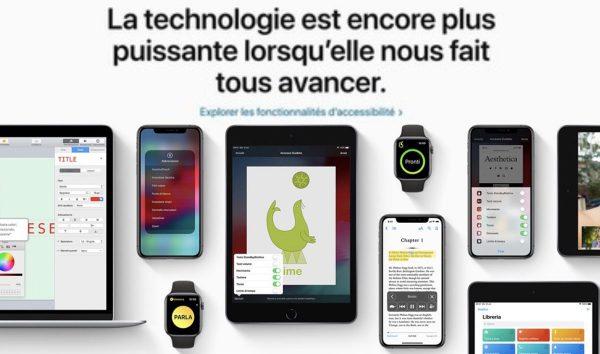Apple - accessibilité
