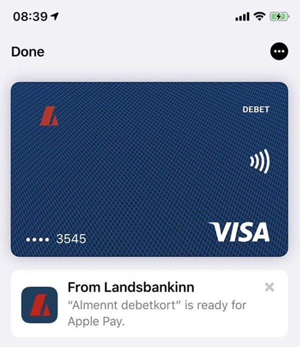 Apple Pay Islande