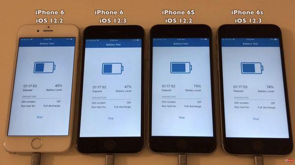 iOS 12.3 vs iOS 12.2 autonomie