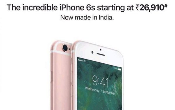 "iPhone 6s ""made in India"""