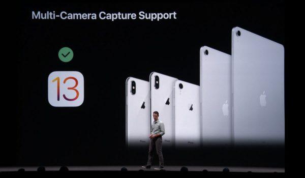 iOS 13 : multi-cam