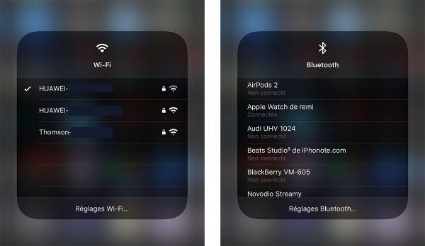 iOS 13 : Wi-Fi & Bluetooth