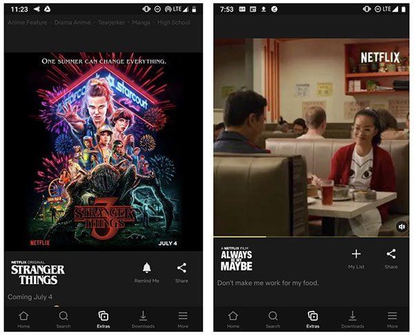 Netflix - flux style Instagram