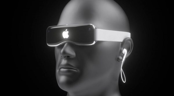 Concept du casque de réalité augmentée d'Apple