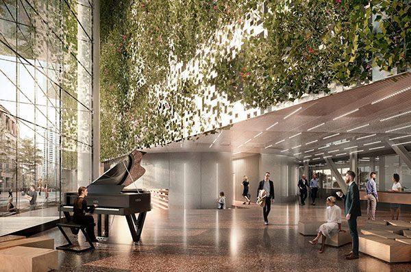 Bureaux Apple dans une tour futuriste à Vancouver