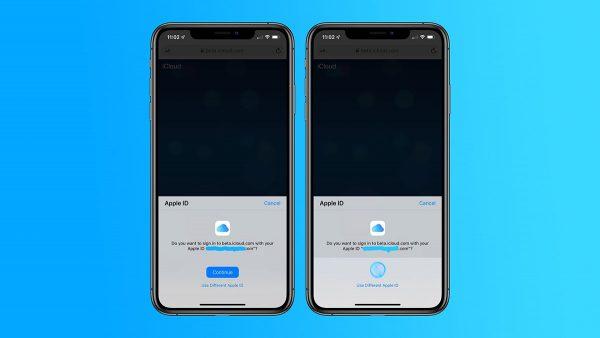 iOS 13  - Connexion iCloud.com
