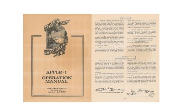 manuel de l'Apple I (1976)