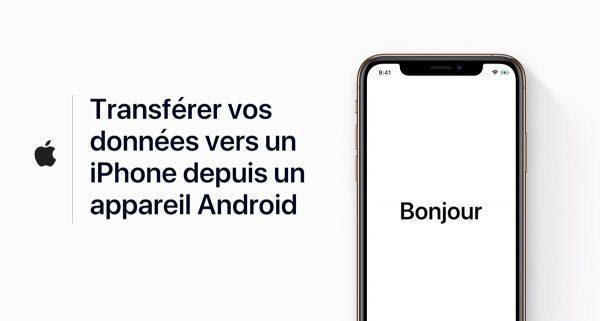 Transférer vos données vers un iPhone depuis Android